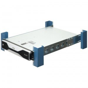 2U universal server rack rails with server